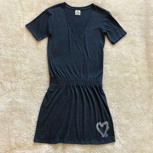 Victoria's Secret Pink T-Shirt Dress Blue Heart XS